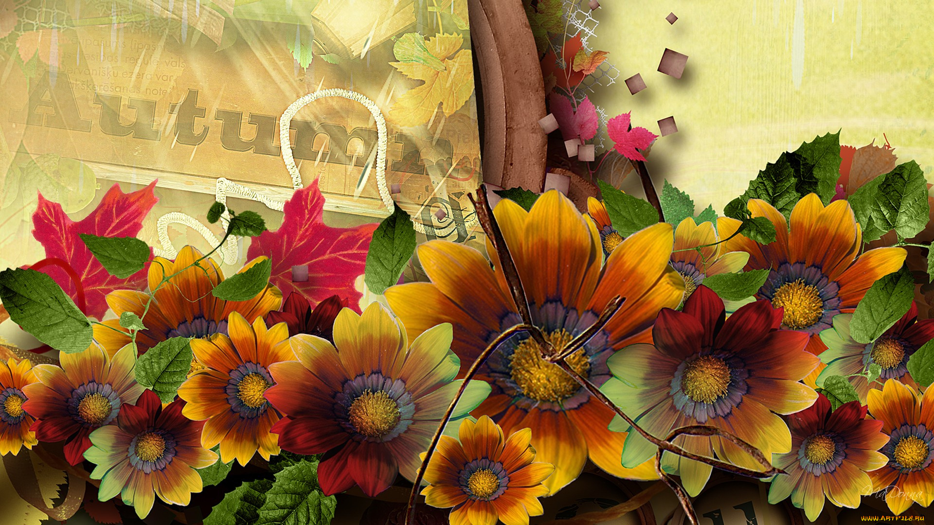 фотообои для рабочего стола осенние цветы